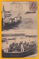 1913 - Timbre De 2 Cs Surchargé Marruecos Avec Oblitération Casablanca Sur CP Française Campagne Du Maroc 1912-1913 - Spanisch-Marokko