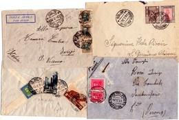 Colonie Italiane   Di Posta Militare   70 + 109 + 134 Lotto Di 4 Buste - Non Classificati