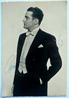 CARLO ZAMPIGHI, Tenore, Cartolina Con Autografo - Autographes