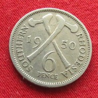 Southern Rhodesia 6 Six Pence 1950 KM# 21 *V2 Rodesia Rhodesie - Rhodésie