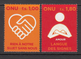 2008 UN Vienna Human Rights For Persons With Disabilities Set Of 2 MNH - Office De Genève