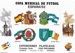 España HR Ciudades Sedes 6 Hojas Juego Completo - 1982 – Espagne
