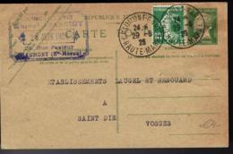 ENTIER POSTALE DE CHAUMONT HAUTE MARNE - 1926 - TYPE PASTEUR COMPLÈTÉ- GANZSACHE - - Cartes Postales Types Et TSC (avant 1995)