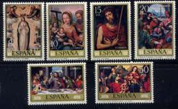 ESPAGNE - 2183/2188** - JOURNEE DU TIMBRE / TABLEAUX DE JUAN DE JUANES - 1931-Aujourd'hui: II. République - ....Juan Carlos I