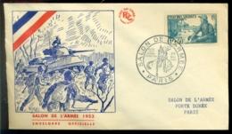 France 1953 FDC Salon De L'Armée - 1950-1959