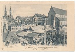 BASEL - Barfüsserplatz Während Der Messe - BS Bâle-Ville