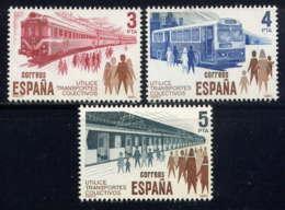 ESPAGNE - 2206/2208** - TRANSPORTS EN COMMUN - 1931-Aujourd'hui: II. République - ....Juan Carlos I