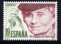 ESPAGNE - 2220** - HELEN KELLER - 1931-Aujourd'hui: II. République - ....Juan Carlos I