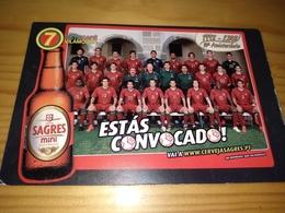 "Postcard, Postal "" Sete Café Vilamoura, Selecção Portuguesa,Luís Figo, Cerveja Sagres Mini"",Advertising, Portugal - Voetbal"
