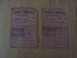 LOT DE 2 CARTES DE RATIONNEMENT VILLE DES LILAS - Documents Historiques