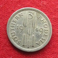 Southern Rhodesia 3 Pence 1949 KM# 20 *V2 Rodesia Rhodesie - Rhodésie