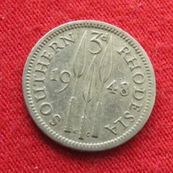 Southern Rhodesia 3 Pence 1948 KM# 20 *V1 Rodesia Rhodesie - Rhodésie