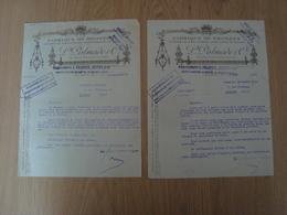 LOT DE 2 LETTRES DE LA FABRIQUE DE BRONZES L PALMADE & Cie  PARIS 1921 - France