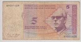 BOSNIE HERZEGOVINE 5 Marka 1998 P61a VG+ - Bosnie-Herzegovine
