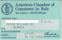 American Chamber Of Commerce In Italy - Altri
