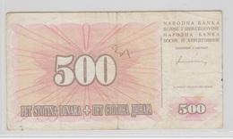 BOSNIE HERZEGOVINE 500 Dinara 1994 P45b VG+ - Bosnie-Herzegovine