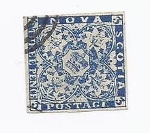 Timbre Poste 1851 Stamp Américain Canadien CANADA America Province NOUVELLE ECOSSE Novia Scotia 3p Three Pence Bleu Blue - Nova Scotia