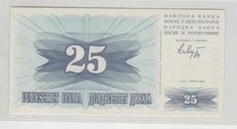 BOSNIE HERZEGOVINE 25 Dinara 1992 P11a UNC - Bosnie-Herzegovine