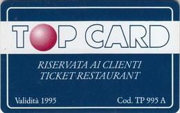Ticket Restaurant TopCard - Altre Collezioni
