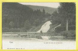 * Coo (Stavelot - Liège - La Wallonie) * (Nels, Série 20, Nr 78) Le Pont De Bois Et La Cascade, Waterval, Chute, TOP - Stavelot