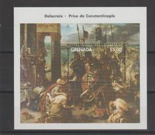Bicentenaire De La Naissance D'Eugène Delacroix 1998 Grenada BF 486 ** MNH - Arte