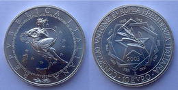 ITALIA 10 E 2003 ARGENTO EURO CONSIGLIO UNINE EUROPEA PRESIDENZA ITALIANA PESO 22g TITOLO 0,925 CONSERVAZIONE FDC UNC. - Italie