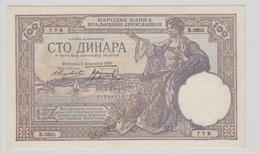 YOUGOSLAVIE 100 Dinara 1929 P27b AU-UNC - Yougoslavie