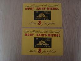 LOT DE 2 BUVARDS VETEMENT DE TRAVAIL MONT SAINT-MICHEL - Textile & Clothing