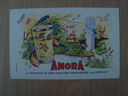 BUVARD AMORA MOUTARDE - Buvards, Protège-cahiers Illustrés