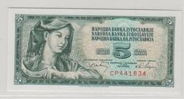 YOUGOSLAVIE 5 Dinara 1968 P81a UNC - Yougoslavie