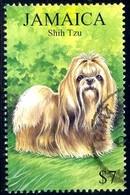 Dog, Shih Tzu, Jamaica Stamp SC#908 Used - Jamaique (1962-...)