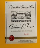 9502  - Château Le Jurat  1981 Saint Emilion - Bordeaux