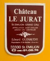 9503  - Château Le Jurat  Saint Emilion  Autocollant !!! Ceci N'est Pas Une étiquette - Bordeaux