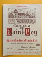 9507  - Château De Saint-Pey 1978 1L50  Saint Emilion - Bordeaux
