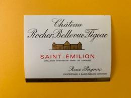 9517  - Château Rocher Bellevue Figeac  Saint Emilion Petite étiquette - Bordeaux