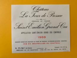 9518  - Château La Tour De Pressac 1959  Saint Emilion - Bordeaux