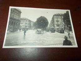 B704  Torino Piazzale Porta Nuova Tram Non Viaggiata Cm14x9 - Italia