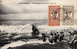 Thematiques Martinique Canot Barque Phénomène De La Barre Cachet 03 09 1916 - Fort De France