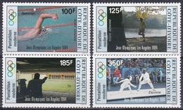Elfenbeinküste Ivory Coast Cote D'Ivoire 1984 Sport Spiele Olympia Olympics Fünfkampf Schießen Fechten, Mi. 812-5 ** - Côte D'Ivoire (1960-...)