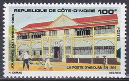 Elfenbeinküste Ivory Coast Cote D'Ivoire 1984 Architektur Bauwerke Gebäude Buildings Postamt Post Office, Mi. 811 ** - Côte D'Ivoire (1960-...)
