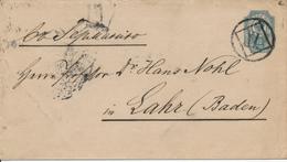 St. PETERSBURG / Russland - 1897  , Brief  Nach Lahr / Baden  Mit Nummernstempel XI - 1857-1916 Imperium