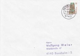 PU 314/2  Blanke Umschlag Mit 33 Pf Sehenswürdigkeiten, Bensheim - BRD