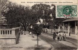 Thematiques Sénegal Afrique Occidentale Dakar Rue Des Essarts Daté Main Bord 19 02 1916 - Senegal