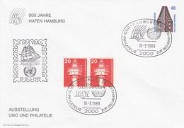 PU 316/3  800 Jahre Hamburger Hafen Ausstellung UNO Un Philatelie, Hamburg 36 - BRD