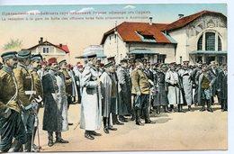 242. CPA COLORISEE BULGARIE. LA RECEPTION A LA GARE DE SOFIA DES OFFICIERS TURCS FAITS PRISONNIERS A ANDRINOPLE 1919 - Weltkrieg 1914-18