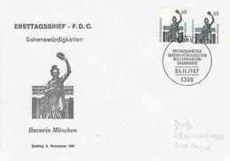 PU 318/3  FDC Bavaria München Ersttag: 6.Novemver 1997, Bonn 1  - Privatumschlag - BRD