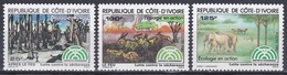 Elfenbeinküste Ivory Coast Cote D'Ivoire 1983 Umwelt Environment Umweltschutz Evironmental Protection, Mi. 792-4 ** - Côte D'Ivoire (1960-...)