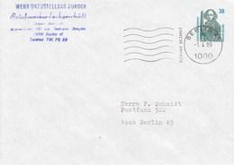 PU 322 A1/3  Blanko Umschlag Mit 38 Pf Sehenswürdigkeiten - BRD