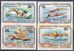 Elfenbeinküste Ivory Coast Cote D'Ivoire 1983 Sport Spiele Olympia Olympics Wassersport Schwimmen, Mi. 787-0 ** - Côte D'Ivoire (1960-...)