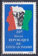 Elfenbeinküste Ivory Coast Cote D'Ivoire 1983 Landkarten Maps Tiere Fauna Animals Elefanten Elephants, Mi. 787-0 ** - Côte D'Ivoire (1960-...)